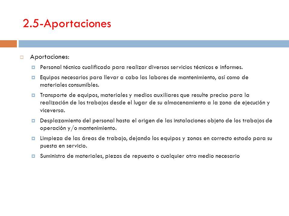 2.5-Aportaciones Aportaciones: