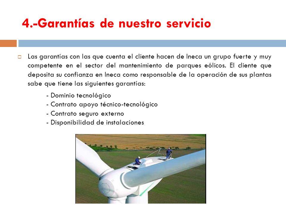 4.-Garantías de nuestro servicio