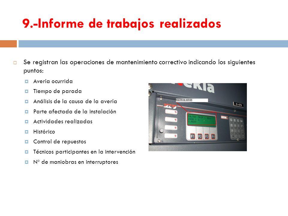 9.-Informe de trabajos realizados
