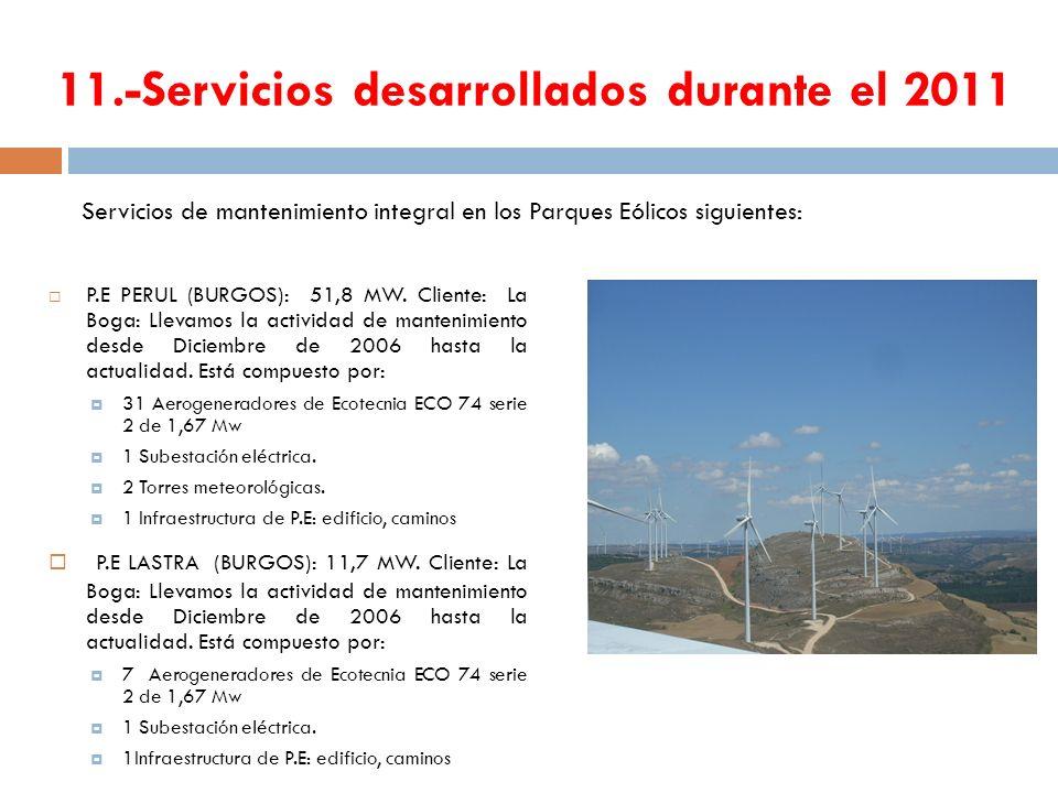 11.-Servicios desarrollados durante el 2011