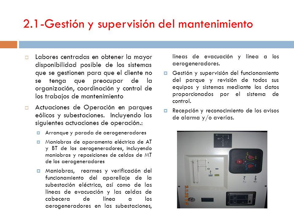 2.1-Gestión y supervisión del mantenimiento