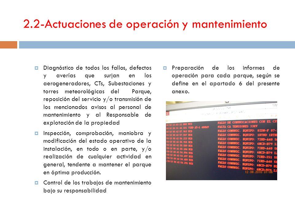 2.2-Actuaciones de operación y mantenimiento