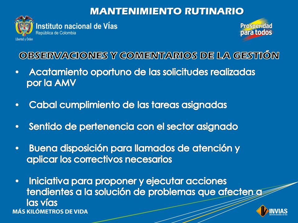OBSERVACIONES Y COMENTARIOS DE LA GESTIÓN