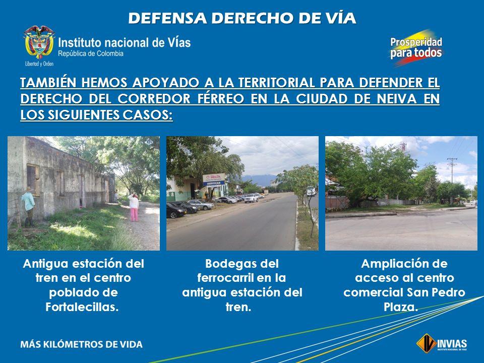 DEFENSA DERECHO DE VÍA