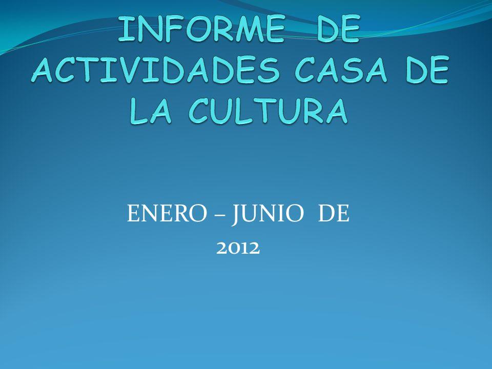 INFORME DE ACTIVIDADES CASA DE LA CULTURA