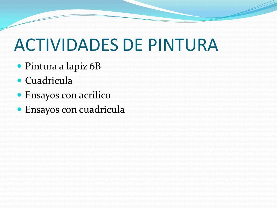 ACTIVIDADES DE PINTURA