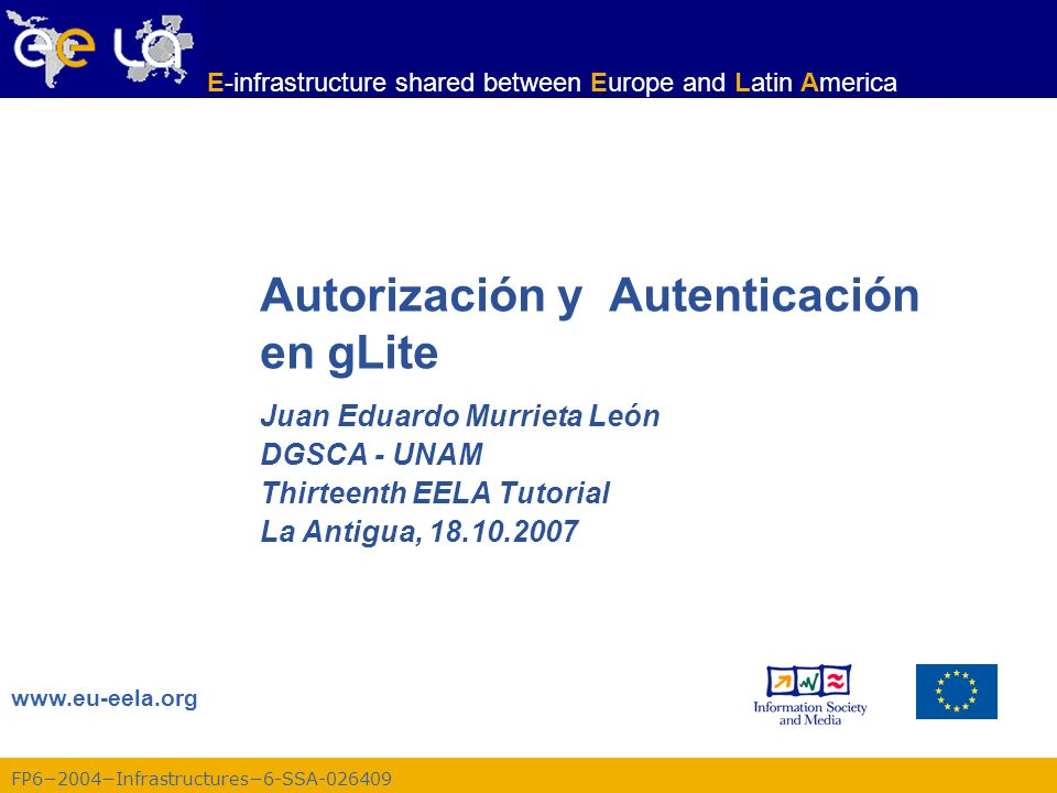 Autorización y Autenticación en gLite
