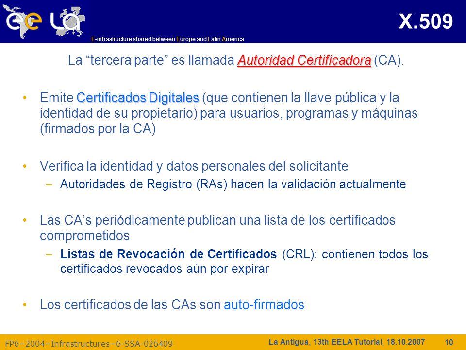 La tercera parte es llamada Autoridad Certificadora (CA).