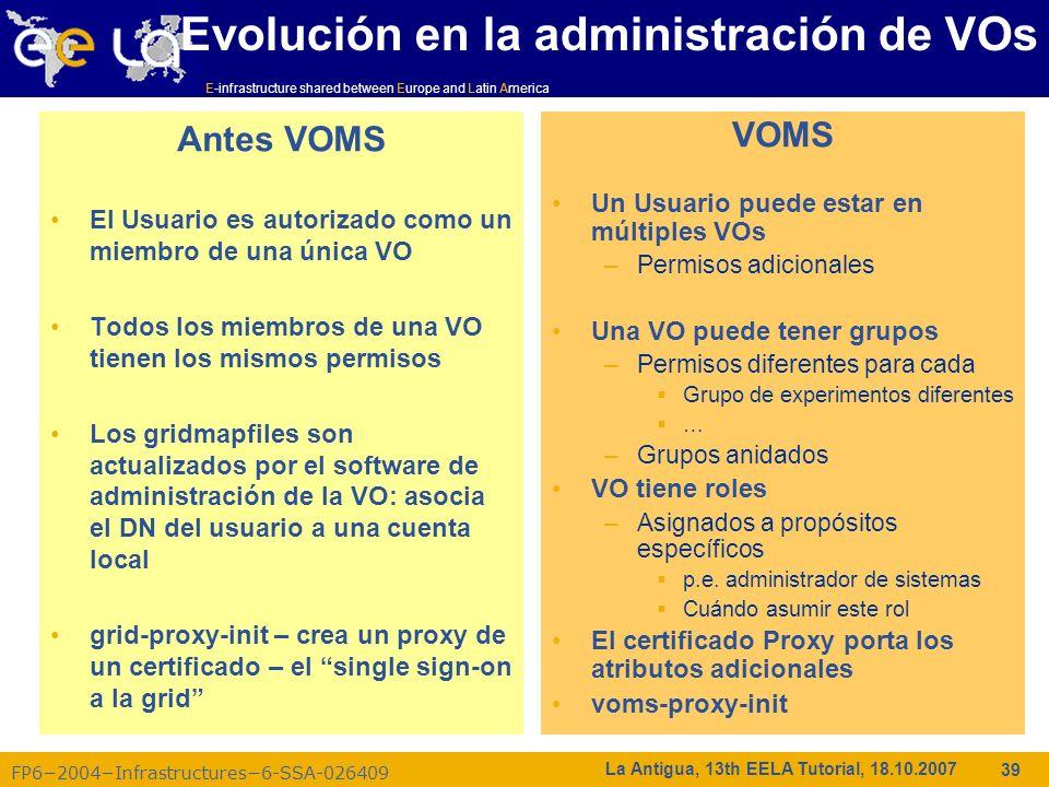 Evolución en la administración de VOs