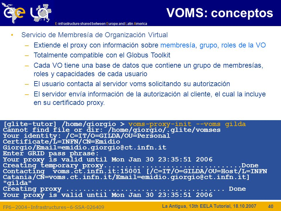 VOMS: conceptos Servicio de Membresía de Organización Virtual