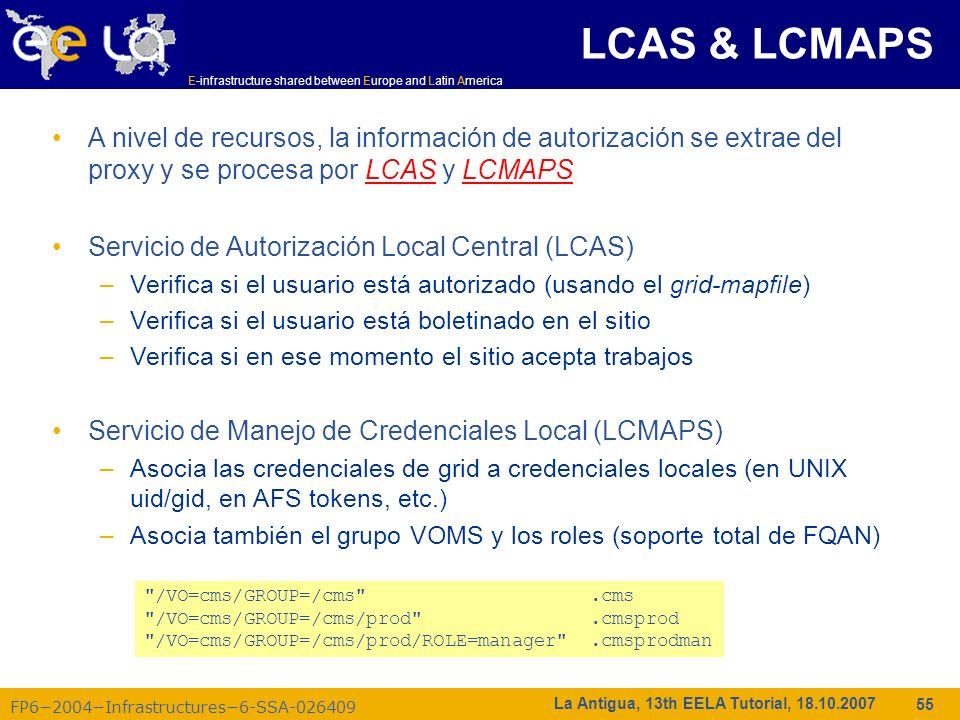 LCAS & LCMAPS LCAS & LCMAPS