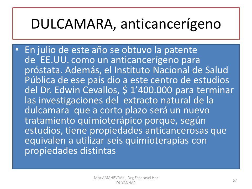 DULCAMARA, anticancerígeno