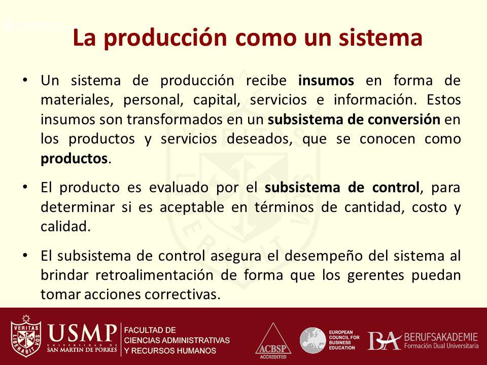 La producción como un sistema