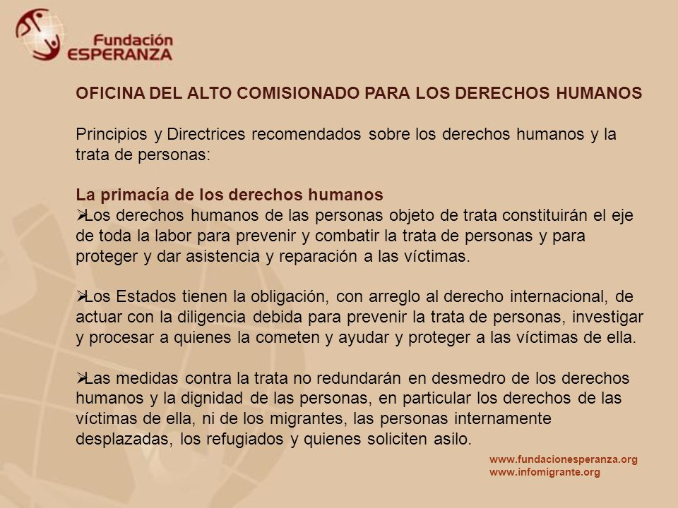 OFICINA DEL ALTO COMISIONADO PARA LOS DERECHOS HUMANOS