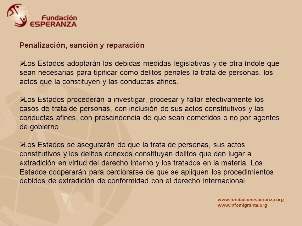 Penalización, sanción y reparación