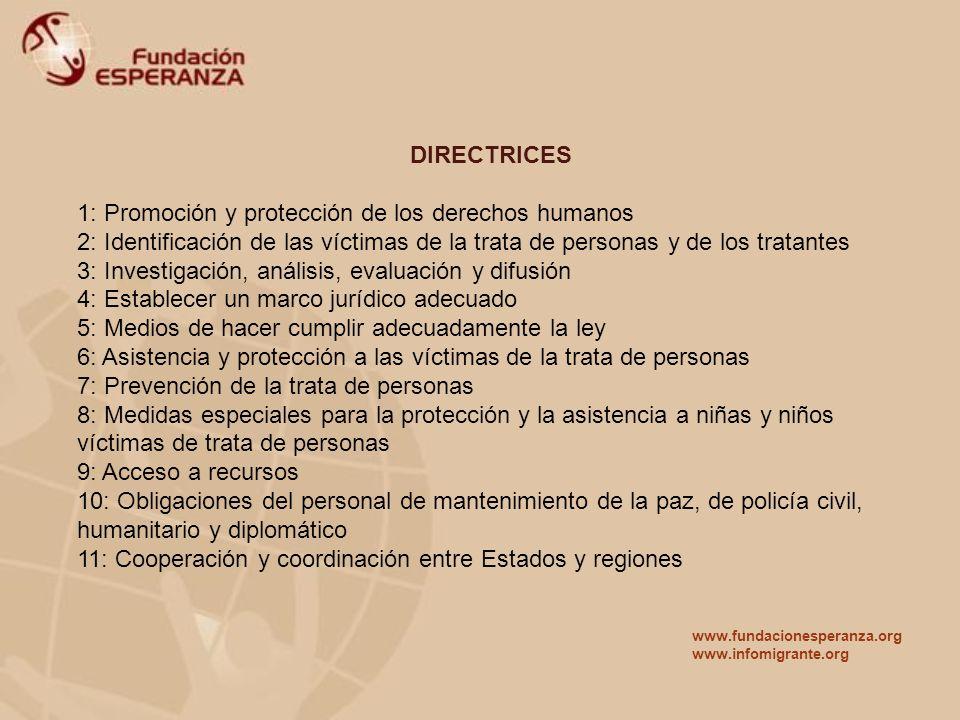 1: Promoción y protección de los derechos humanos