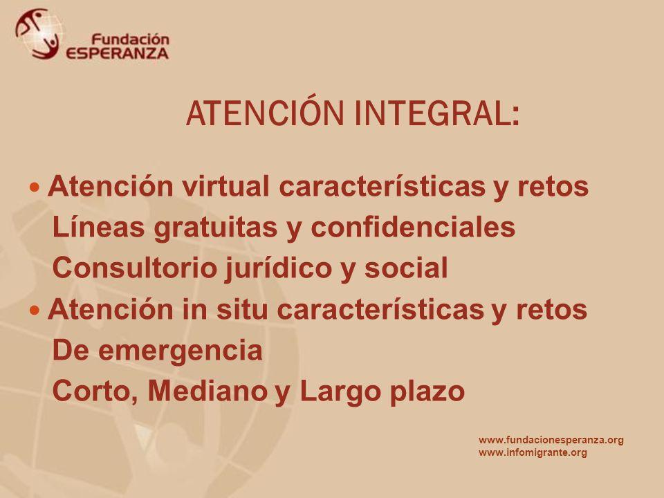ATENCIÓN INTEGRAL: Atención virtual características y retos