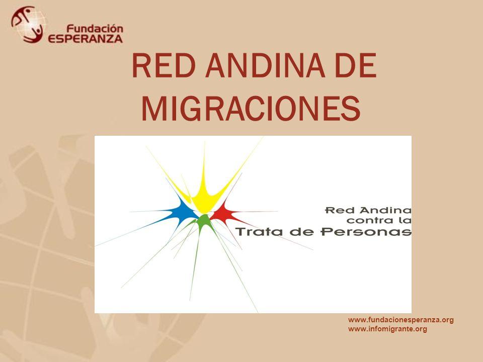 RED ANDINA DE MIGRACIONES