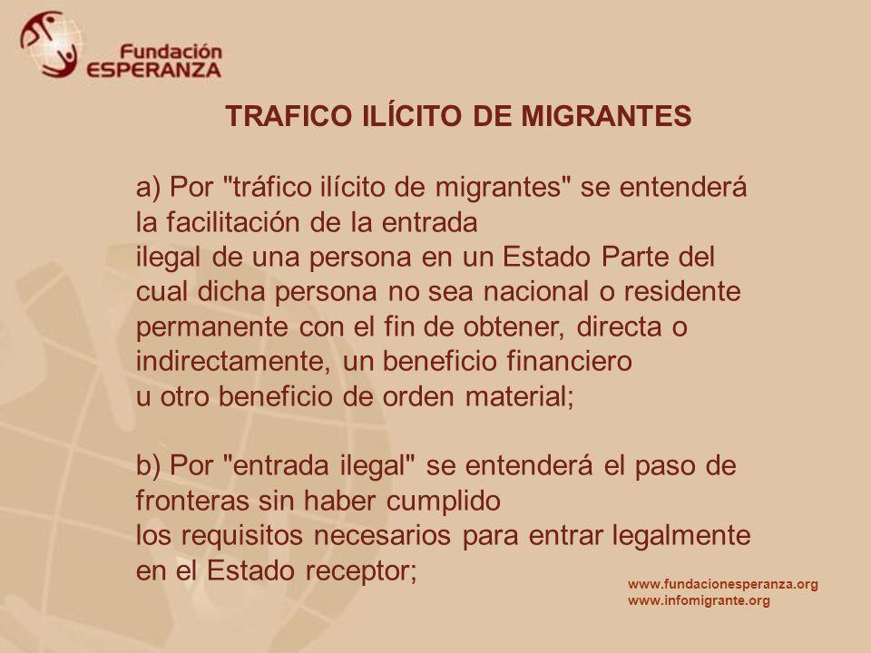 TRAFICO ILÍCITO DE MIGRANTES