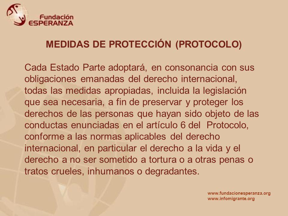 MEDIDAS DE PROTECCIÓN (PROTOCOLO)