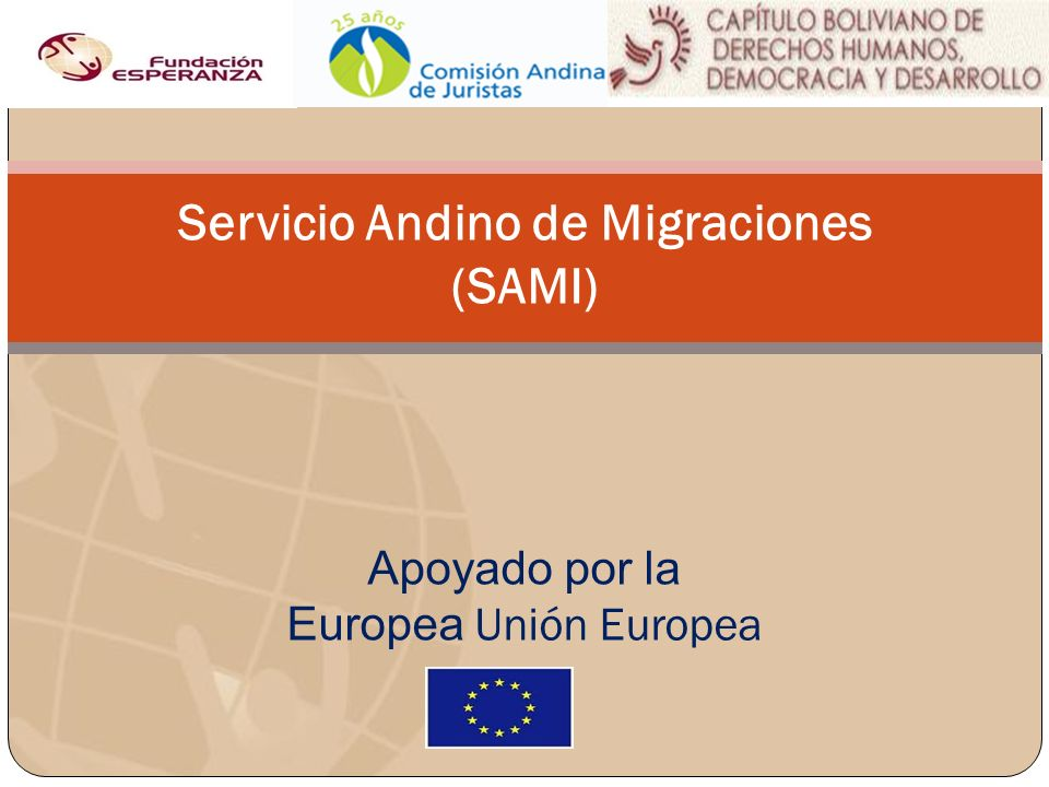 Servicio Andino de Migraciones (SAMI)