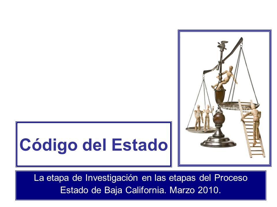 Código del Estado La etapa de Investigación en las etapas del Proceso