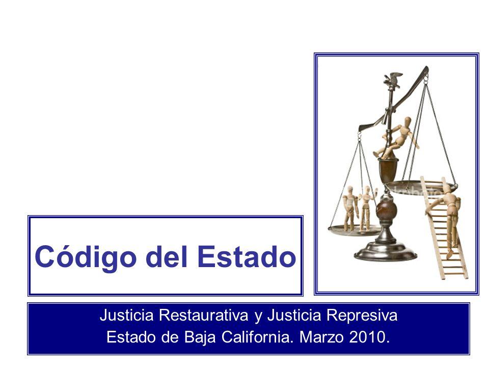 Código del Estado Justicia Restaurativa y Justicia Represiva