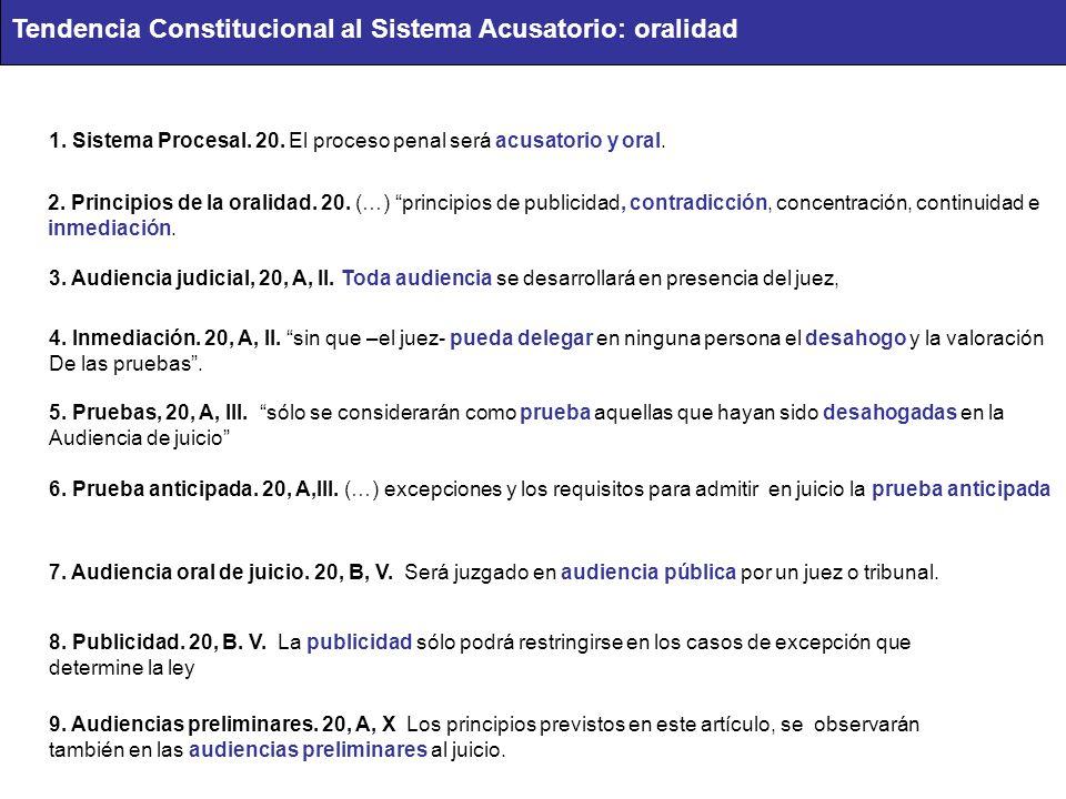 Tendencia Constitucional al Sistema Acusatorio: oralidad
