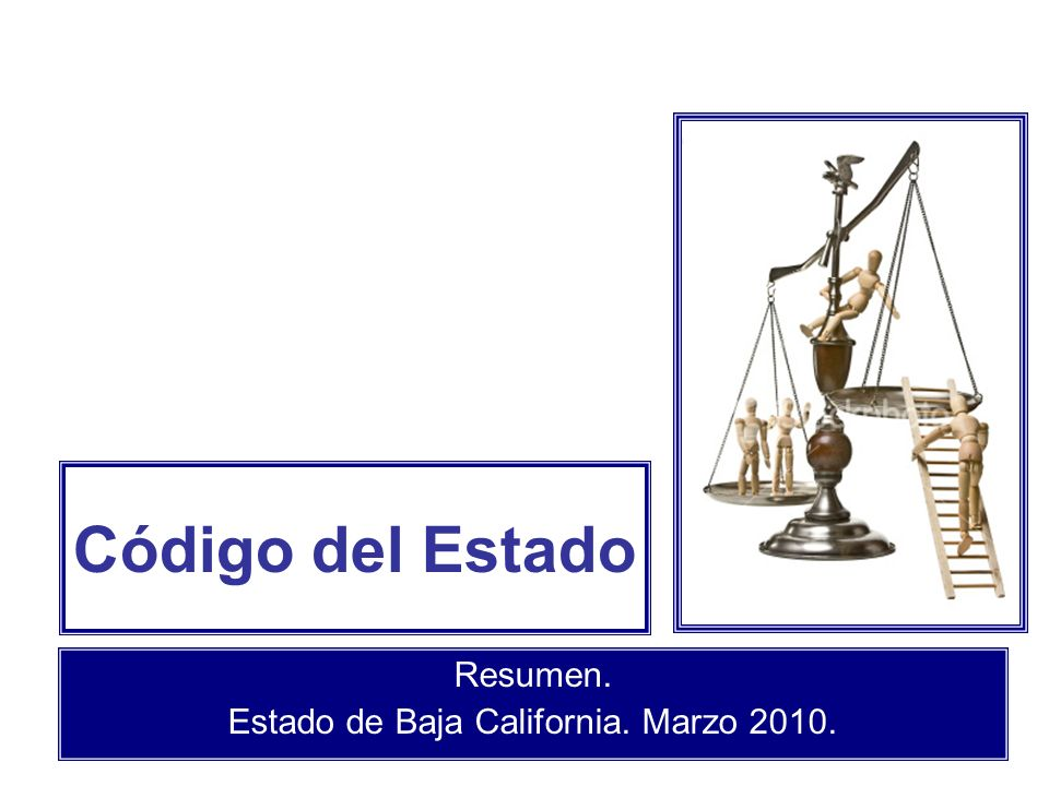 Resumen. Estado de Baja California. Marzo 2010.