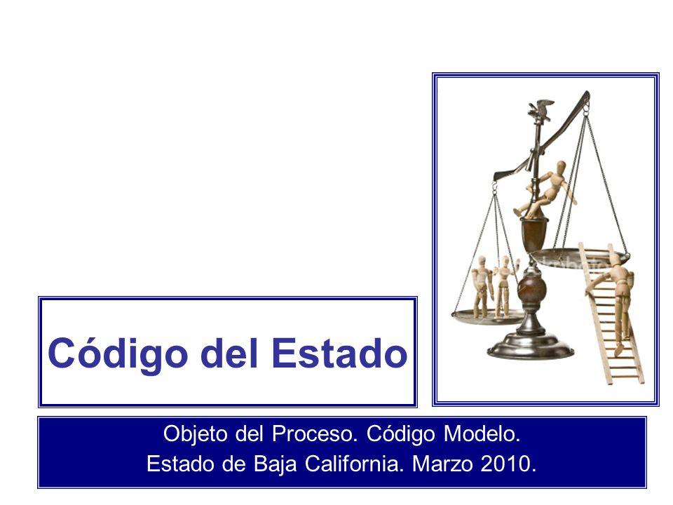 Código del Estado Objeto del Proceso. Código Modelo.
