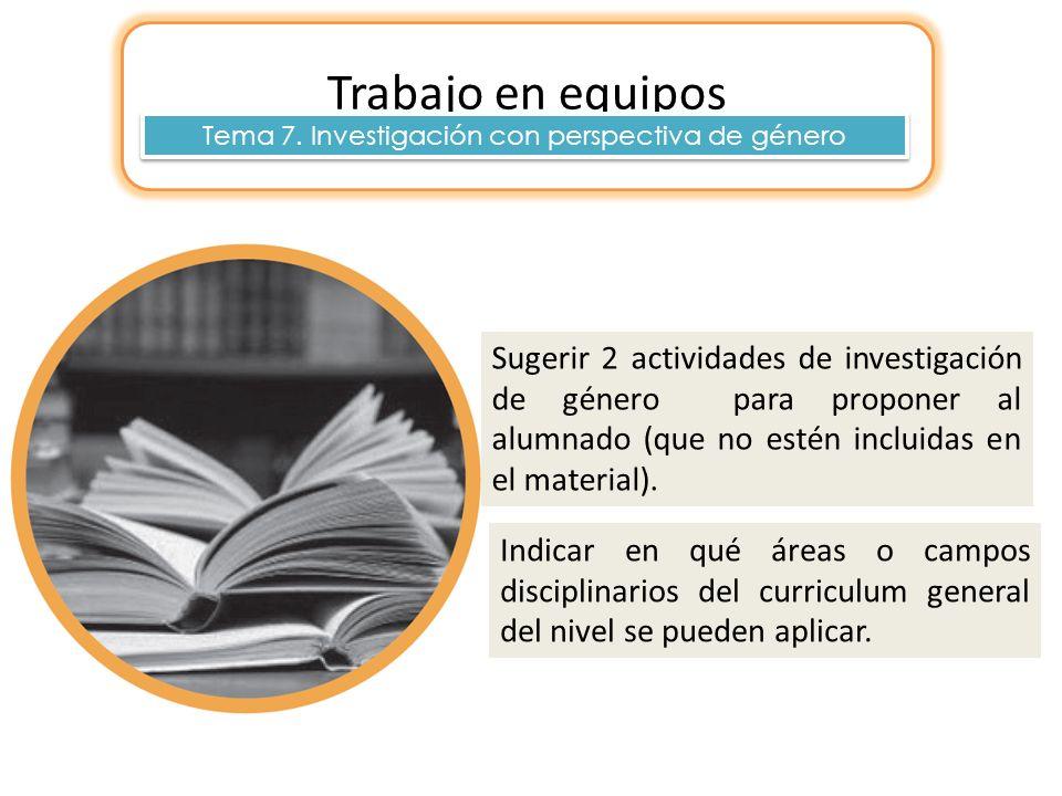 Tema 7. Investigación con perspectiva de género