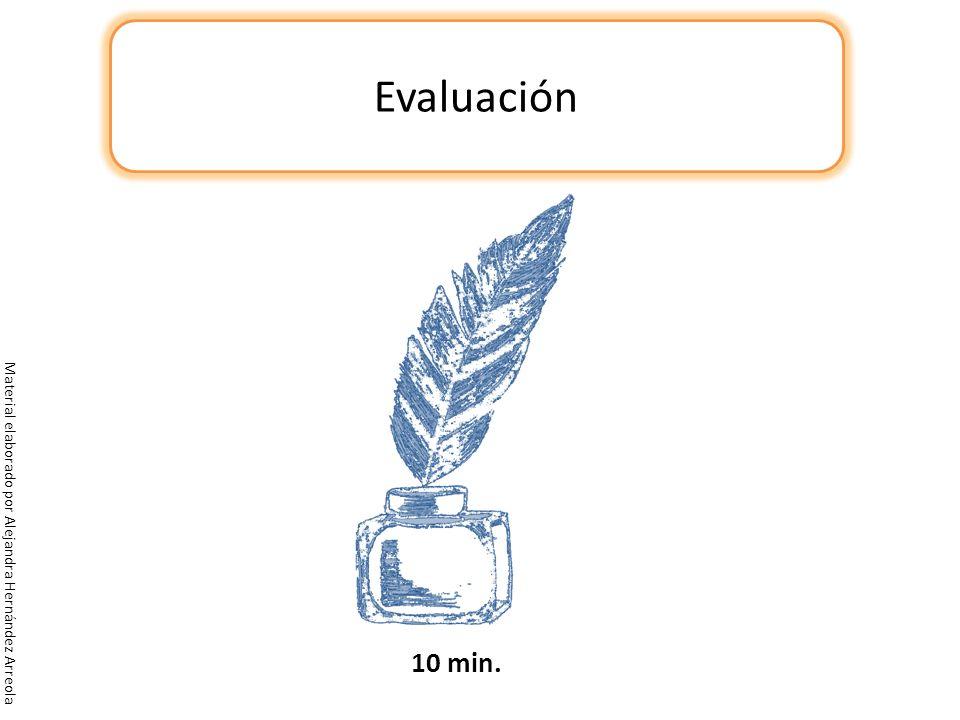 Evaluación Material elaborado por Alejandra Hernández Arreola 10 min.