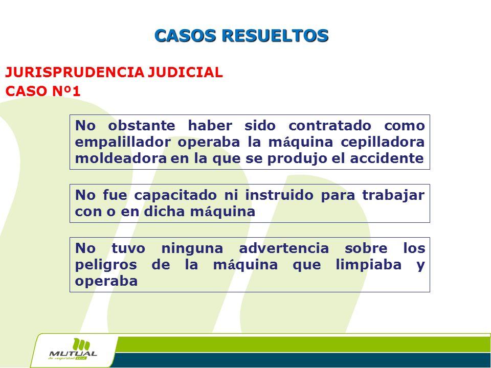 CASOS RESUELTOS JURISPRUDENCIA JUDICIAL CASO Nº1