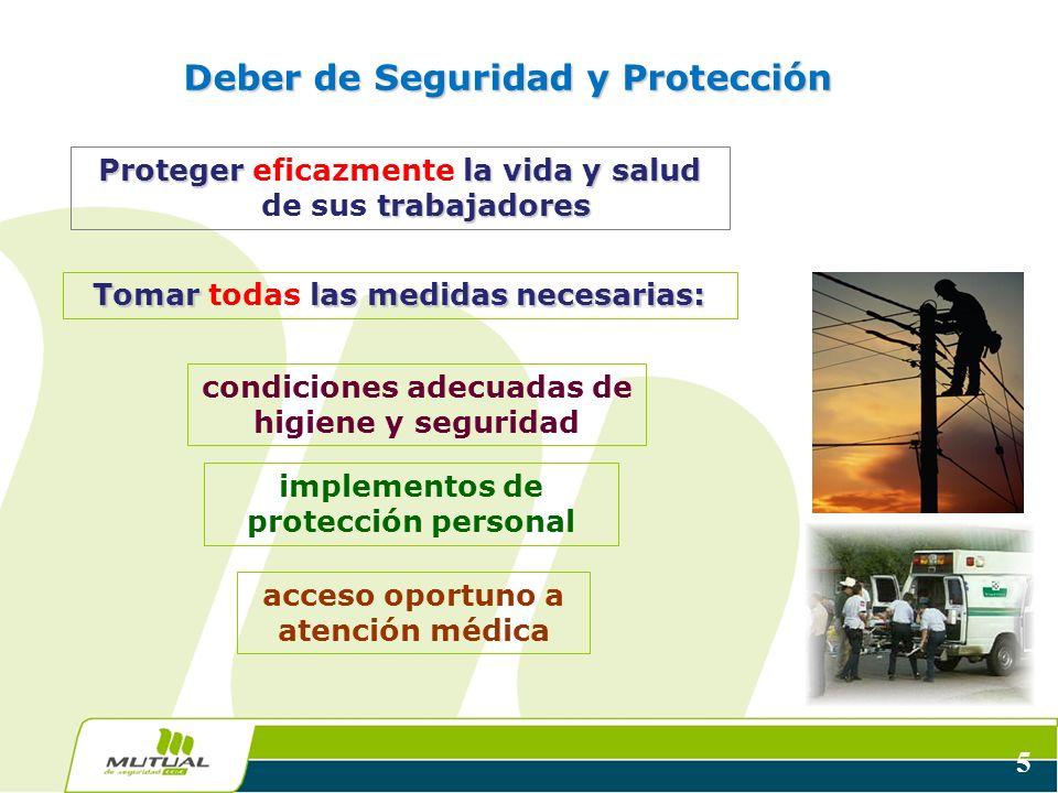 Deber de Seguridad y Protección