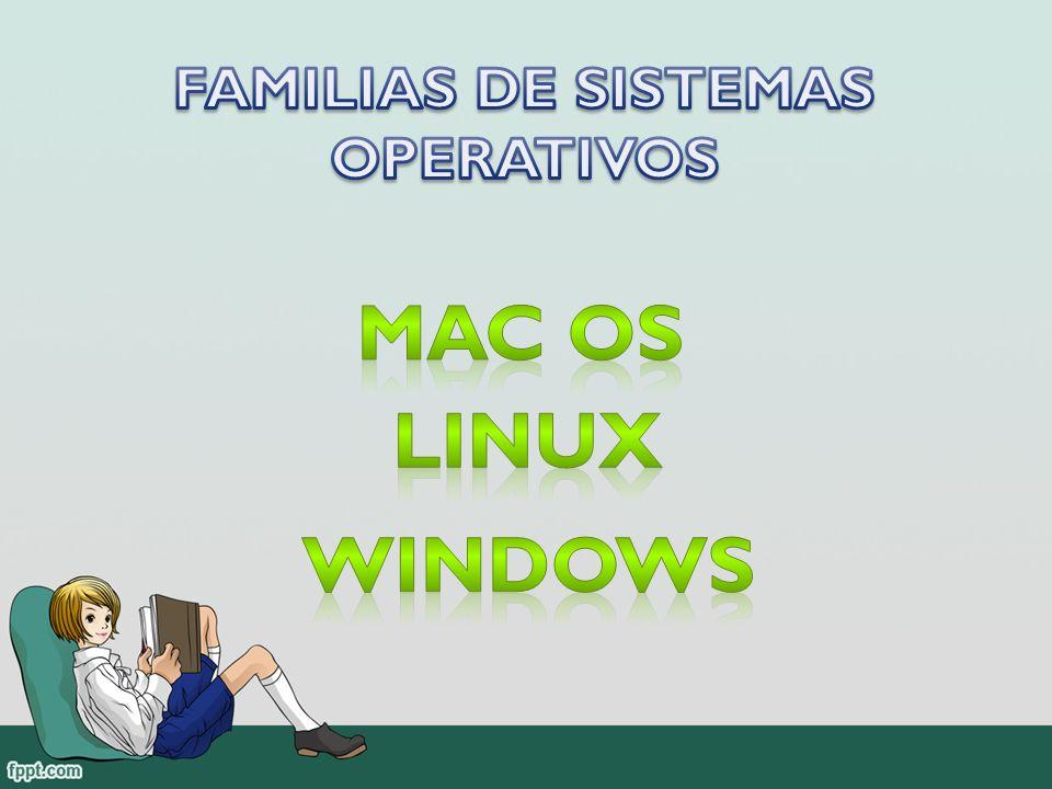 FAMILIAS DE SISTEMAS OPERATIVOS