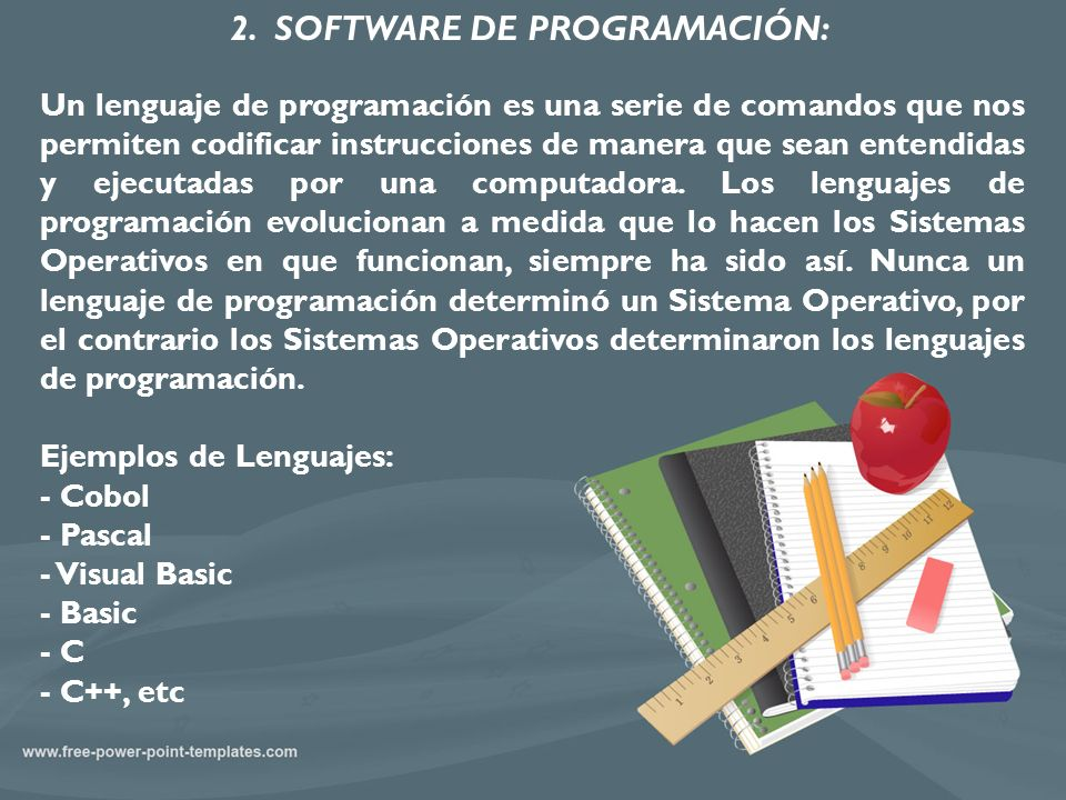 2. SOFTWARE DE PROGRAMACIÓN: