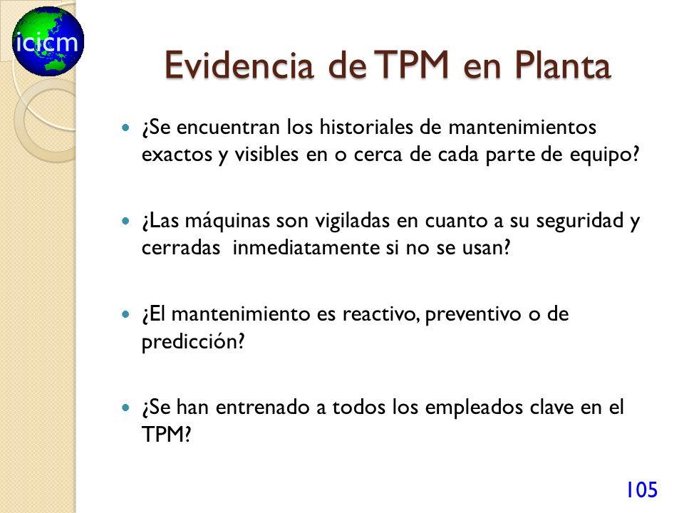 Evidencia de TPM en Planta