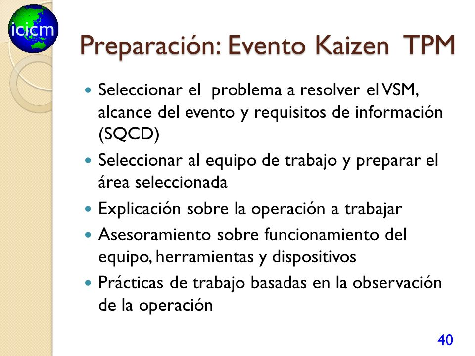 Preparación: Evento Kaizen TPM