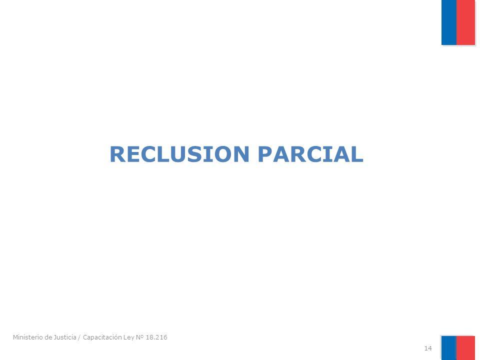 RECLUSION PARCIAL Ministerio de Justicia / Capacitación Ley Nº 18.216