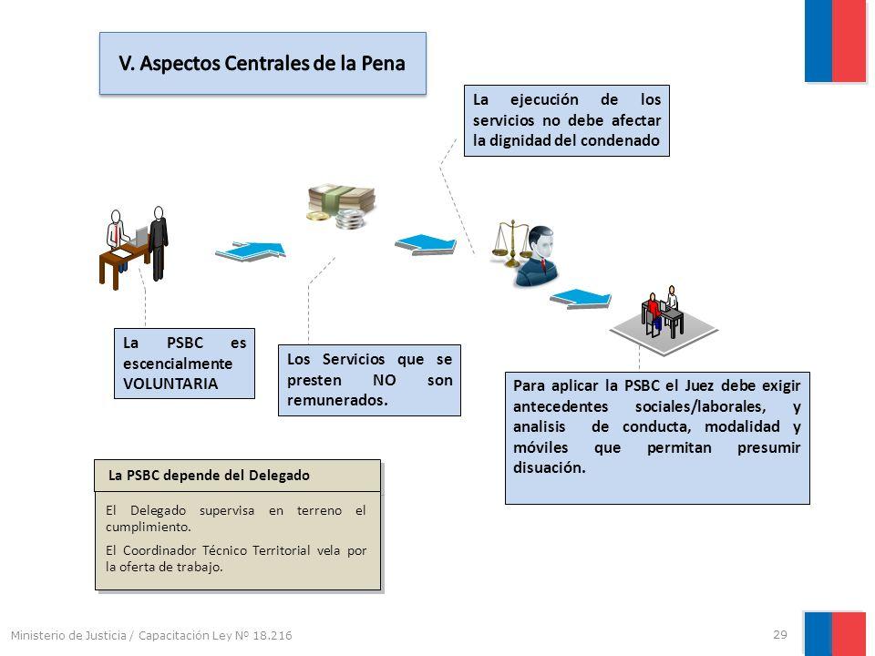 V. Aspectos Centrales de la Pena