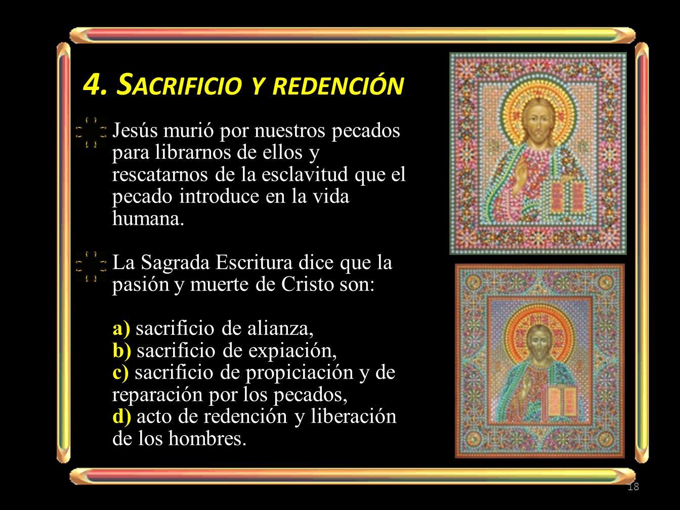 4. Sacrificio y redención