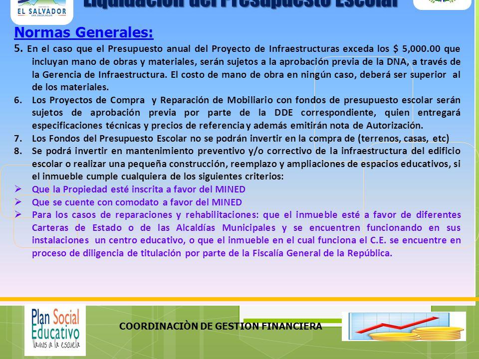 COORDINACIÒN DE GESTION FINANCIERA