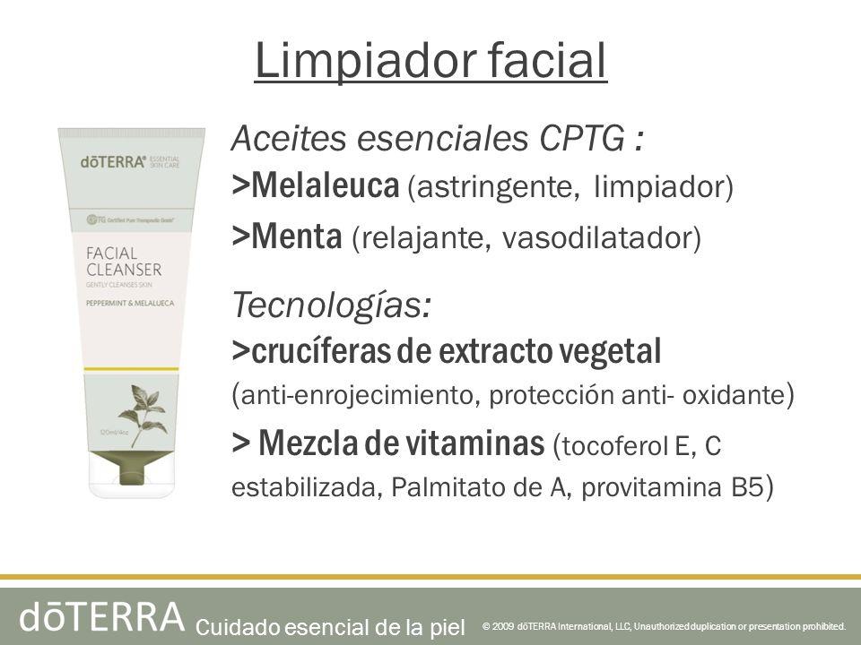 Limpiador facial Aceites esenciales CPTG :