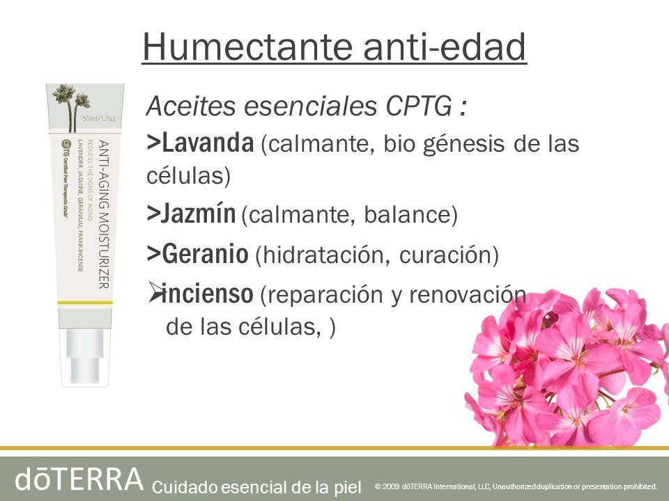 Humectante anti-edad Aceites esenciales CPTG :