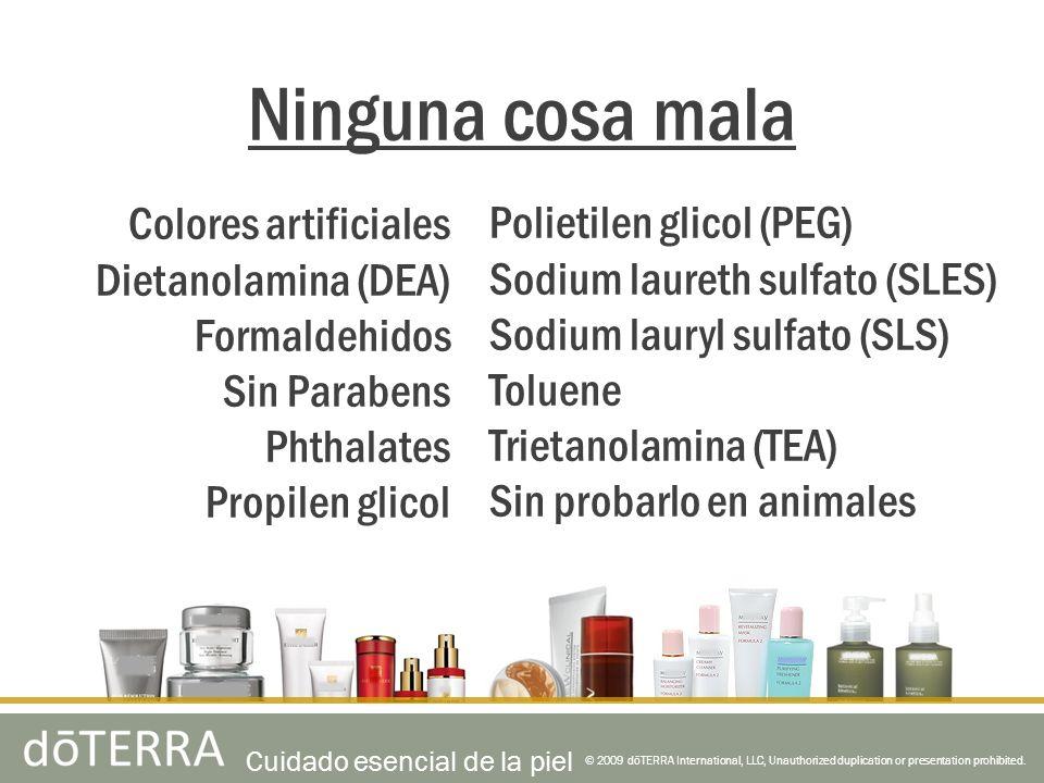 Ninguna cosa mala Colores artificiales Dietanolamina (DEA)