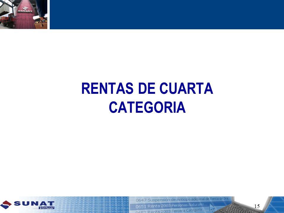RENTAS DE CUARTA CATEGORIA