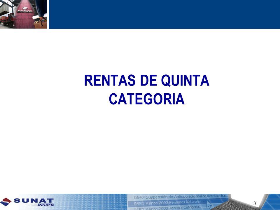 RENTAS DE QUINTA CATEGORIA