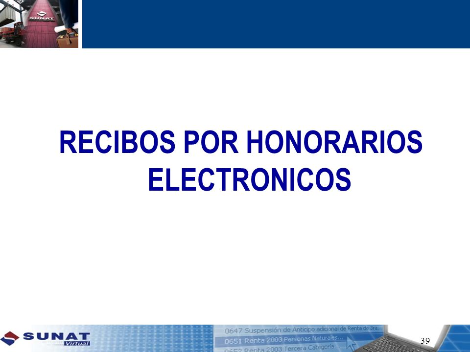 RECIBOS POR HONORARIOS ELECTRONICOS