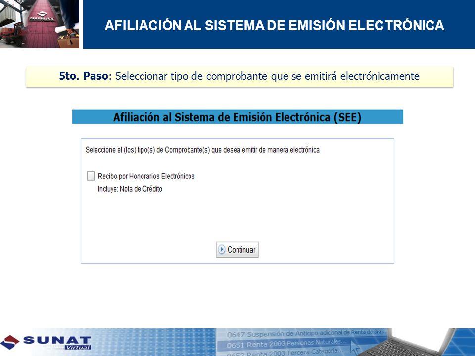 AFILIACIÓN AL SISTEMA DE EMISIÓN ELECTRÓNICA