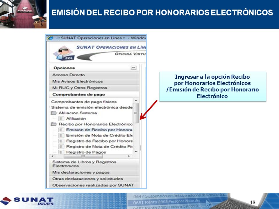 EMISIÓN DEL RECIBO POR HONORARIOS ELECTRÓNICOS